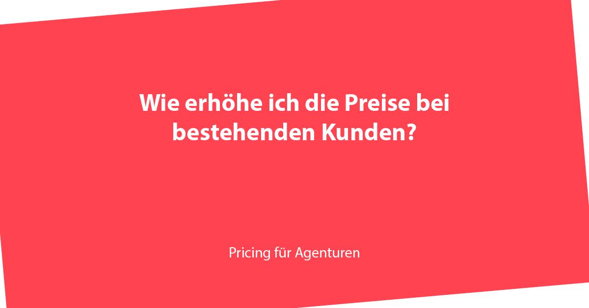 Preiserhöhung, Angebot für Kunden, Angebot für Bestandskunden, Bestandskunden, Preise